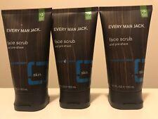 3 x Every Man Jack Face Scrub, Signature Mint, 5 Fluid Ounce