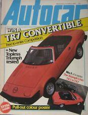 Autocar magazine 15 March 1980 featuring Triumph TR7 Road test, Toyota Corolla