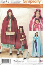 "Simplicity 1348 Matching Caps & Capes for Misses, Child & 18"" Doll Pattern Uncut"