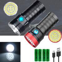 2500LM 18 x XM-L T6 LED 3 Modes Flashlight Torch 4 x 18650 Hunting Lamp Light