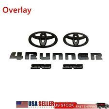 5X 2014-2020 Toyota 4Runner Sr5 Matte Blackout Emblem Kit Badge Overlay Set Oem