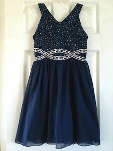 Girls Navy blue Easter or graduation dress