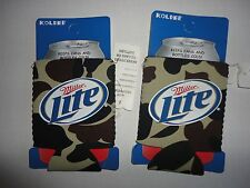 (2) MILLER LIGHT CAMO BEER CAN COOLERS KOOZIE COOLIE HUGIE NEW