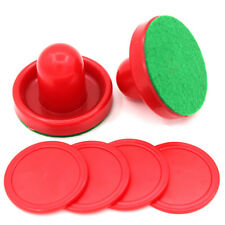 Red Air Hockey Set Home Table Game Replacement Accs 2-Pucks 4-Slider Pusher New