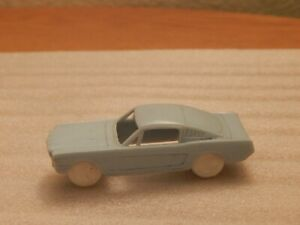 F&F Mold 1965 Ford Mustang Fast Back ~ Cereal Premium Plastic Toy Car / Blue