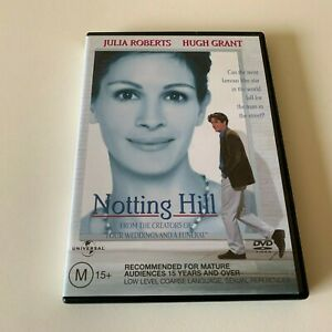 Notting Hill DVD Julia Roberts Hugh Grant