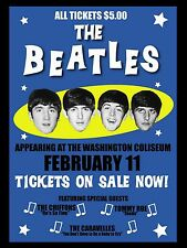 "Beatles Washington 16"" x 12"" Photo Repro Concert Poster"