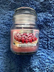 Wickford & Co 5oz / 70g Sugared Raspberry mini jar Candle - FREE POSTAGE