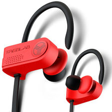 TREBLAB Auriculares Bluetooth Inalámbrico corriendo auriculares XR700 Impermeable-Rojo