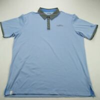 Adidas Golf Climacool Mens Polo Shirt Blue Short Sleeve Stretch XL Eagle Ranch