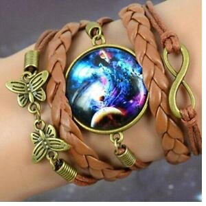 Erasure Handmade Galaxy Wristband Leather Bracelet PRICE REDUCED