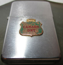 Vintage 1969 CANADA DRY beer soda ZIPPO LIGHTER SUPER NICE W/BOX Advertisement