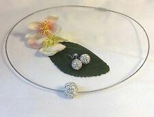 Versilberte Modeschmuck-Sets mit Strass-Perlen für Damen