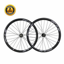 ICAN Carbon Cyclocross Bike Wheelset 38mm Clincher Disc Brake Wheels 28/28 Holes