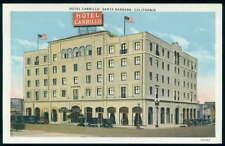 Postcard Santa Barbara Hotel Carrillo View 1910's