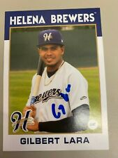 Gilbert Lara 2016 Signed Helena Brewers Team Card