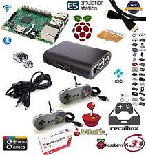 CONSOLA KIT RASPBERRY PI3 16GB CON 2 MANDOS SNES RECALBOX O RETROPIE + KODI