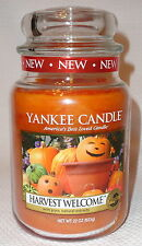 Harvest Welcome Candle by Yankee Large Jar 22 oz Fall Autumn Scent Free Shipping