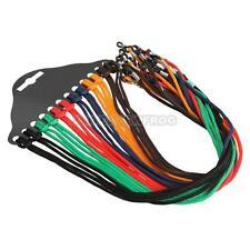 UN3F 12pcs Colorful Eyewear Nylon Cord Reading Glass Neck Strap Eyeglass Holder