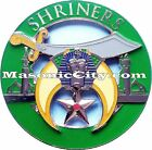 Z-77 Green Shriners Auto Emblem Shrine Temple Mason Masonic Car PHA Lodge