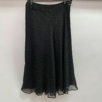 Anne Klein Womens Skirt Size 4 Green Olive 100% Silk A-Line