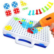 Children Toys Electric Drill Nut Puzzle Assembled Blocks Set Kids Jigsaw Pro