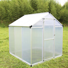 6'x6' Outdoor Polycarbonate Walk In Greenhouse Heavy Duty Plant Green House Kits