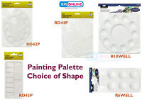 Paint Palettes Mixing Paint Artist Palette Plastic Oval Round Square Flat Royal