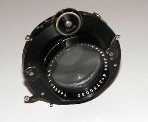 "EXC Carl Zeiss Tessar 4.5/18.5 cm Large Format lens COMPUR shutter COVERS 4x5"""