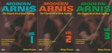 3 Dvd Set Modern Arnis Filipino Stick Fighting empty hands, weapons Remy Presas