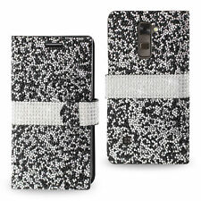 Crystal Diamond Rhinestone Flip Wallet Case Cover For LG Stylo 2 / Stylo 2 Plus