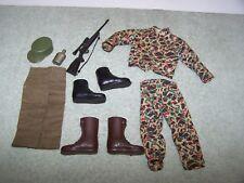 Vintage GI Joe Action Figure  Lot Man Of Action Uniform & Accessories