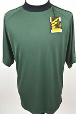 NWT Men's Golf Forrester's X-Static 2-Tone Crew Tee Shirt Green/Black 2XL