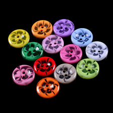 100pcs Mixed Flower Resin Buttons 2 Holes Sewing Scrapbook Cardmaking Craft BKB