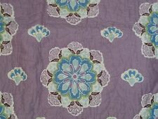 "New Pottery Barn Brooklyn Monogram ""Grace"" Purple Nursery Crib Quilt"