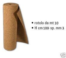Rotolo Sughero Supercompresso mm 3 x mt 1 x 10 - 10 mq ISOLANTE TERMICO CAPPOTTO