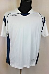 Joma  Men's Medium Soccer Jersey T-Shirt White Blue  M