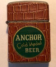 New listing Vintage Promotional Cigarette Lighter for Anchor Beer