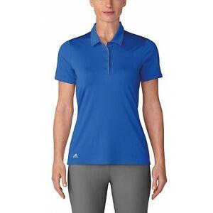 Adidas Golf Shirt Womens XS Blue Authentic Climalite Advantage Performance Polo