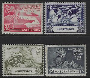 Ascension SG 52 - 55 Universal Postal Union Set Mint Cat £8.00