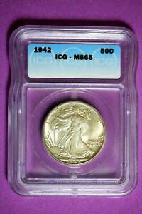 1942 ICG MS65 Walking Liberty Half Dollar #B28178