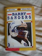 Scholastic Sports Shots_Collector's Book 17-BARRY SANDERS-Football-Detroit Lions
