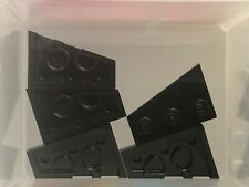 Lego Parts - Black Wedge Plate 3 x 2 Right - No 43722 - Qty 5