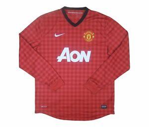 Manchester United 2012-13 Original Home Shirt L/S (Excellent) L Soccer Jersey