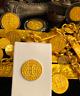 MEXICO 1715 FLEET ROYAL 4 ESCUDOS GOLD PENDANT DOUBLOON TREASURE SHIPWRECK COIN