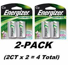 4CT Energizer C2 Rechargeable Size C Batteries, NiMH Recharge NH35BP-2 (2CTx2)