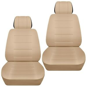 Front set car seat covers fits Nissan Quest 1998-2017  solid sand