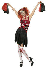 Zombie Cheerleader Costume Fancy Dress Horror Halloween