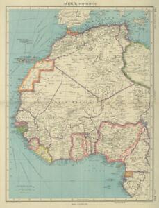 WEST AFRICA. British Cameroons & Togoland mandates. Gold Coast Nigeria 1947 map