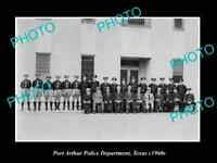 OLD LARGE HISTORIC PHOTO OF PORT ARTHUR TEXAS THE POLICE DEPARTMENT c1960s